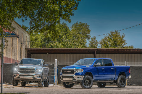 Gallery | 2019 Rams 1500 on 20x9 HD OFF-ROAD Caliber Wheels (Black Milled Face)