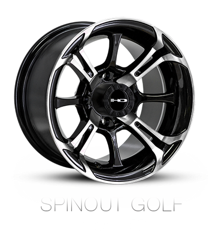 HD Wheels EZGO Exclusive Spinout Machined