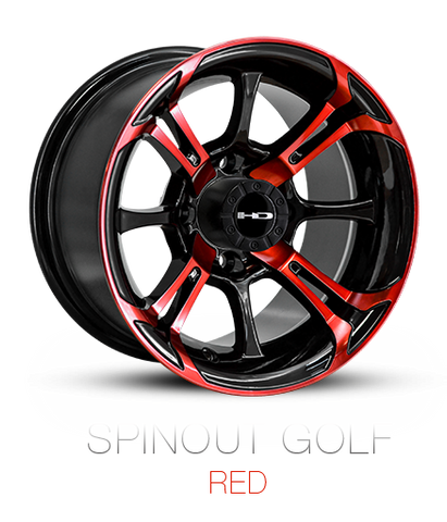 HD Wheels EZGO Exclusive Spinout RED