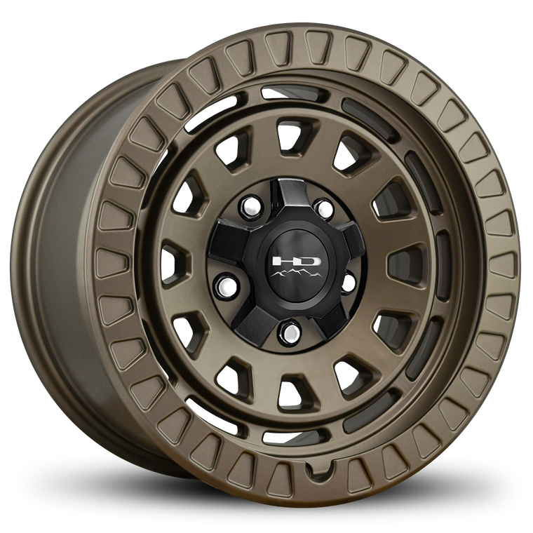 HD Off-Road Venture 17x9.0 & 20x9.0 Overland Adventure style Truck, Jeep, & SUV rims in All Satin Bronze 5x114.3, 5x120, 5x127, 5x139.7, 5x150