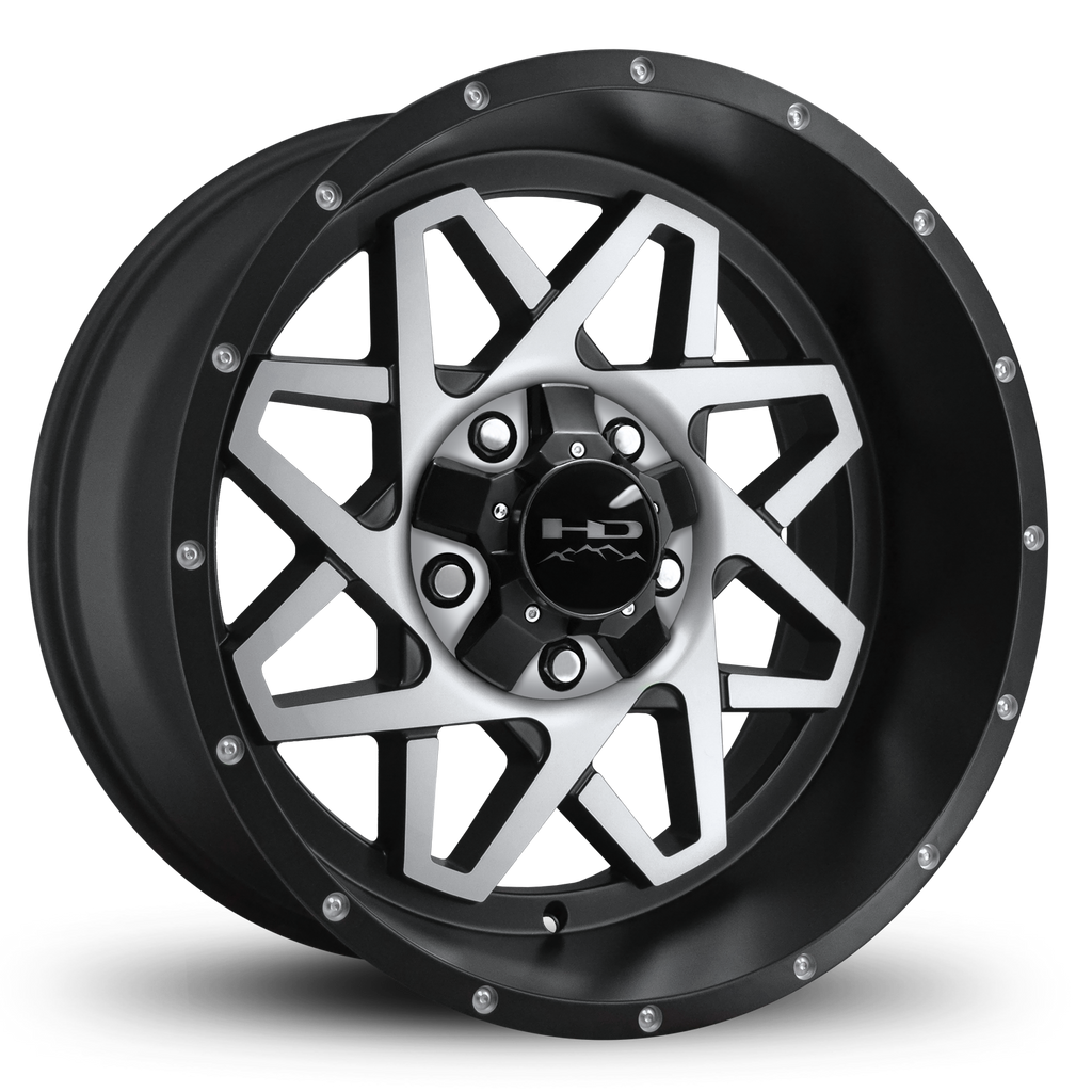 HD Off-Road Wheels Truck & SUV Wheels 20x10.0 | 5x127/5x139.7 | et-25mm | 4.5 in | 78.1mm HD Off-Road Gridlock Wheels | Satin Black Machined