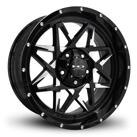 "HD Off-Road Wheels Truck & SUV Wheels 20x9.0 | 5x127/5x139.7 | et0mm | 5.0 in | 78.1mm HD Off-Road Caliber ""Battle Edition"" Wheels 