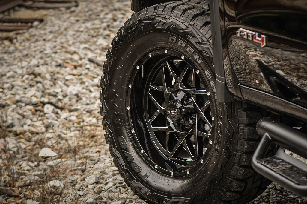 HD Off-Road Wheels Truck & SUV Wheels HD Off-Road Caliber | Gloss Black Milled Edges