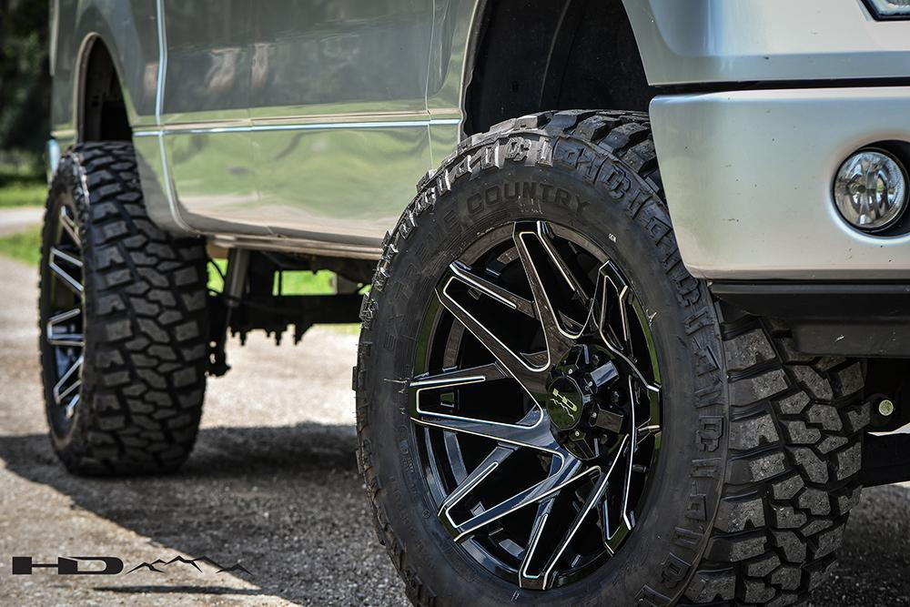 HD Off-Road Wheels Truck & SUV Wheels HD Off-Road Canyon Wheels | Gloss Black w Milled Spoke Edges
