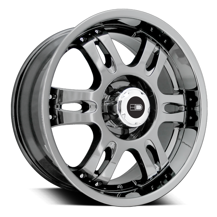 HD Off-Road Wheels Truck Wheels 18x9.0 | 6x139.7 | 20mm et | 5.8 in | 106.2mm HD Off-Road Trophy Wheels | Dark Chrome PVD