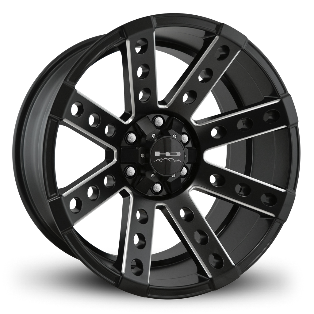 HD Off-Road Wheels Truck Wheels 20x10.0 | 6x135/6x139.7 | et-25mm | 4.0 in | 106.2mm HD Off-Road Buckshot Wheels | Satin Black Milled