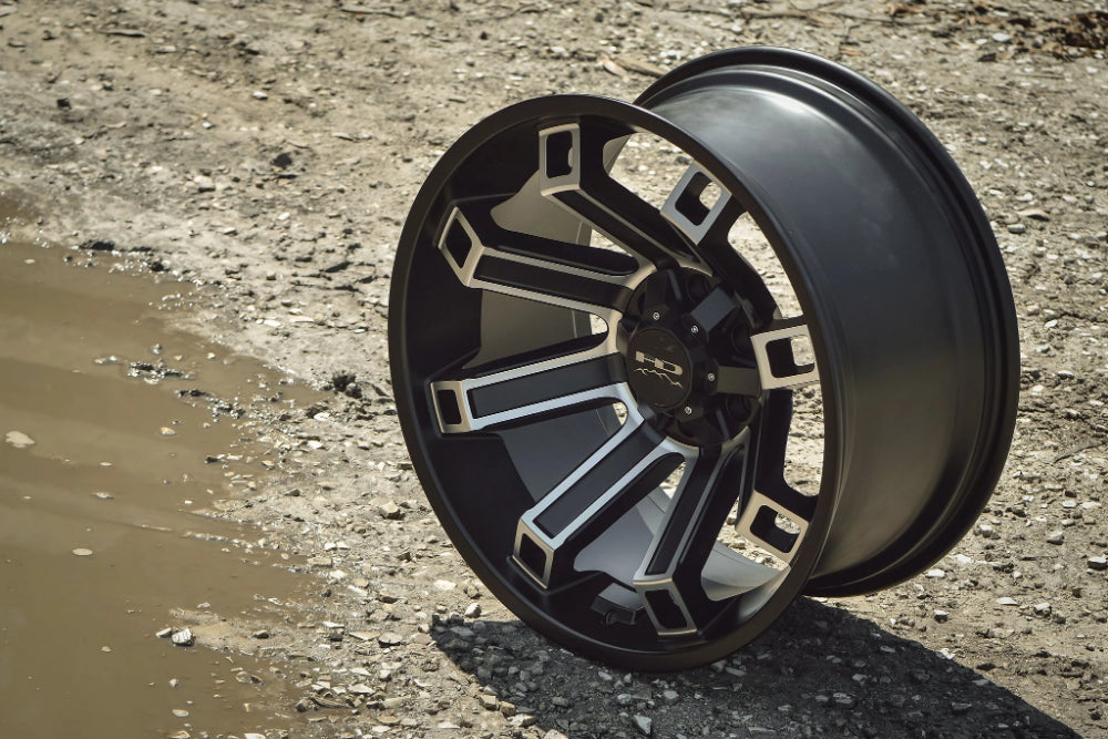 HD Off-Road Wheels Truck Wheels 20x9.0 | 6x135 | et0mm | 5.0in | 87.1mm HD Off-Road Hollow Point Wheels | Satin Black Machined