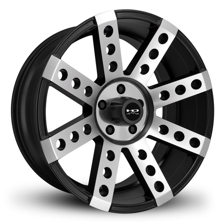 HD Off-Road Wheels Truck Wheels 20x9.0 | 5x127 | et0mm | 5.0in | 71.5mm HD Off-Road Buckshot Wheels | Satin Black Machined Face