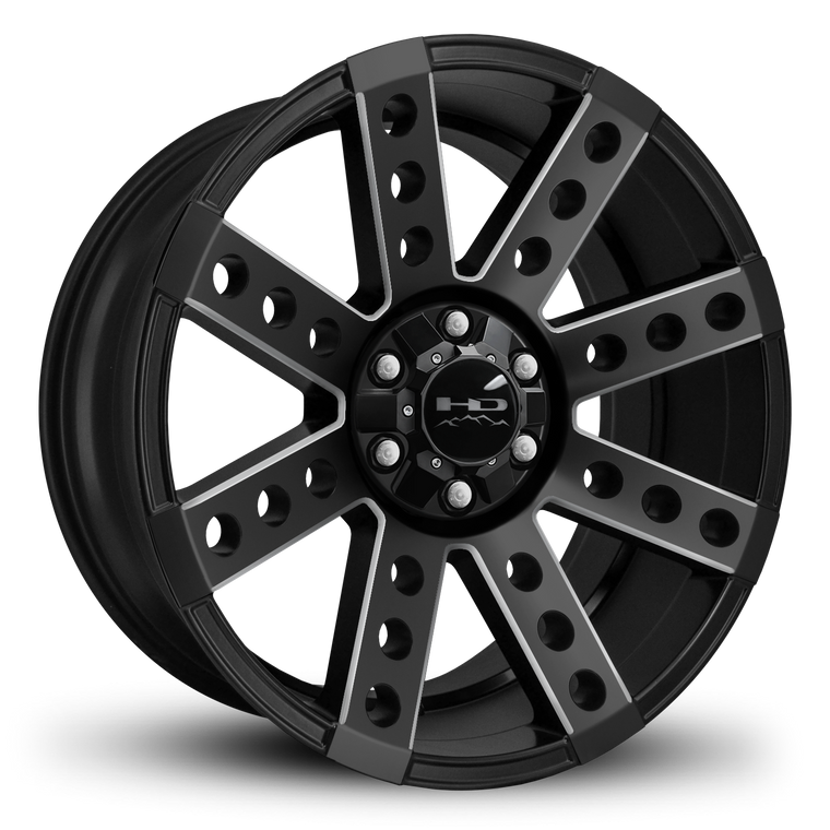 HD Off-Road Wheels Truck Wheels 20x9.0 | 6x135/6x139.7 | et0mm | 5.0 in | 106.2mm HD Off-Road Buckshot Wheels | Satin Black Milled