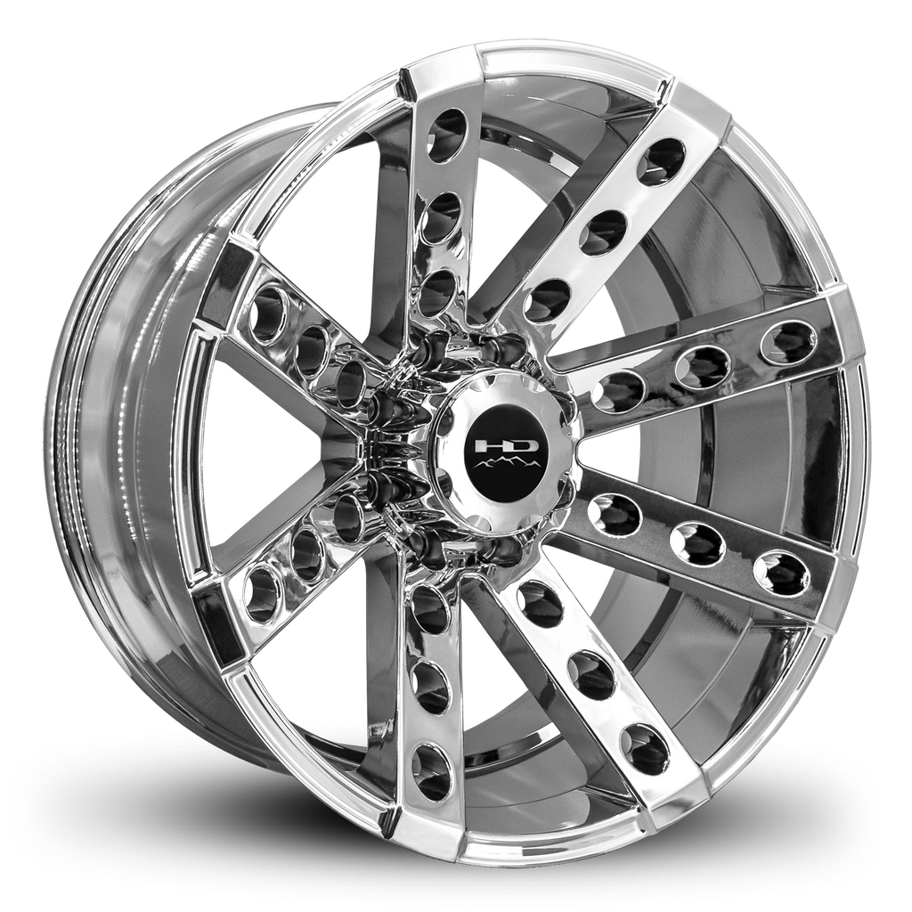 HD Off-Road Wheels Truck Wheels 22x11.0 | 8x165 | et-44mm | 4.3 in | 125mm HD Off-Road Buckshot Wheels | PVD Chrome