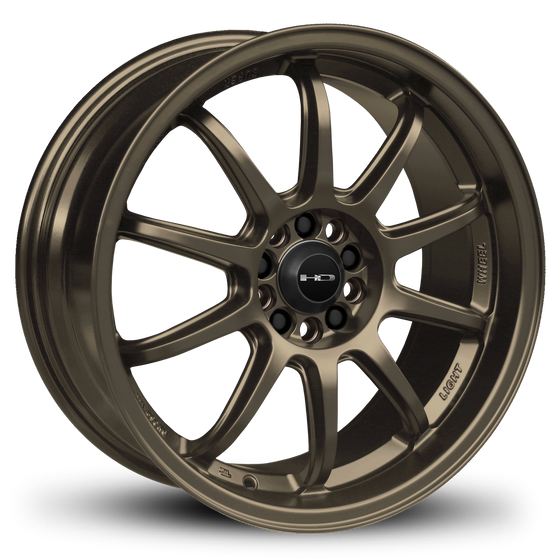 HD Wheels Passenger Car Wheels 15x6.5 | 5x100/5x114.3 | et40mm | 5.3 in | 73.1mm HD Wheels Clutch | All Satin Bronze
