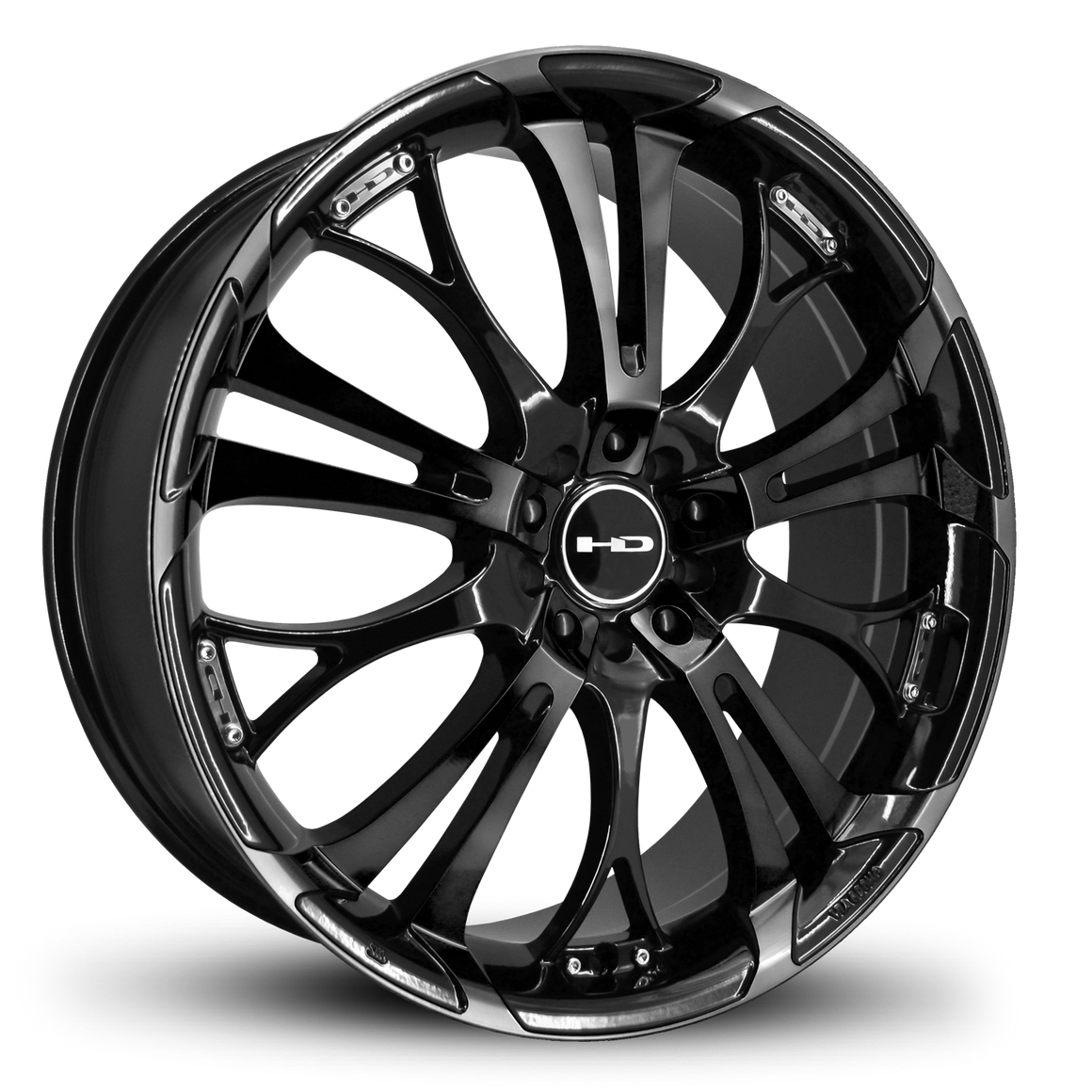 HD Wheels Passenger Car Wheels 17x7.0 | 5x100/5x114.3 | et40mm | 5.6 in | 73.1mm HD Wheels Spinout | All Gloss Black