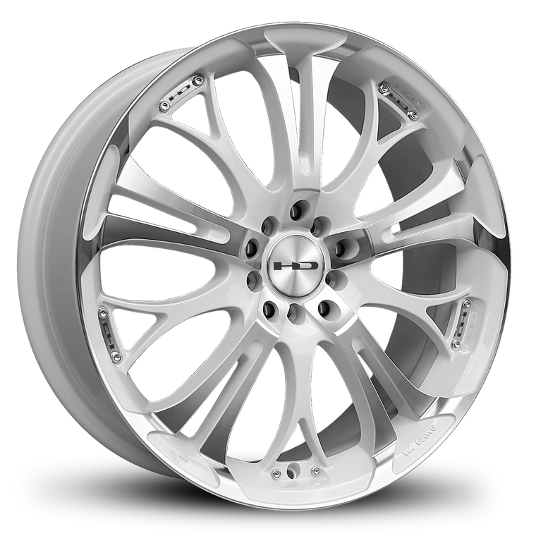 HD Wheels Passenger Car Wheels 17x7.0 | 5x100/5x114.3 | et40mm | 5.6 in | 73.1mm HD Wheels Spinout | White Machined