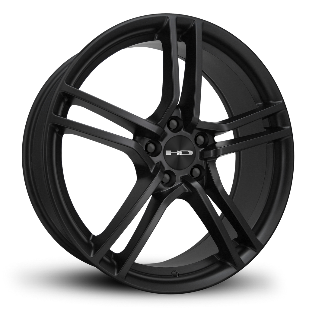 HD Wheels Passenger Car Wheels 17x7.0 | 5x114.3 | et38mm | 5.5 in | 73.1mm HD Wheels Vento | All Satin Black