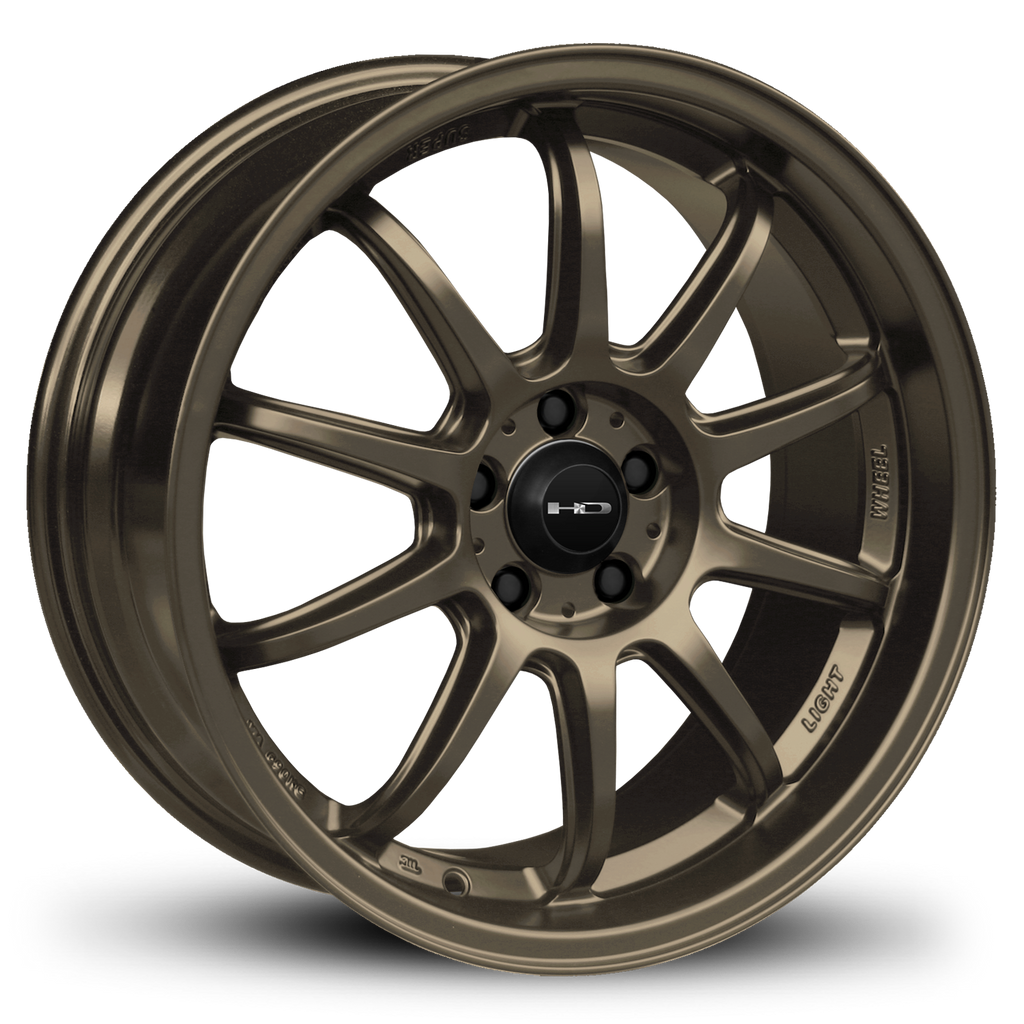 HD Wheels Passenger Car Wheels 17x7.5 | 5x100 | et35mm | 5.6 in | 73.1mm HD Wheels Clutch | All Satin Bronze