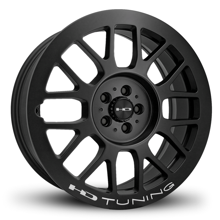 HD Wheels Passenger Car Wheels 18x7.5 | 4x100/4x114.3 | et42mm | 5.9 in | 73.1mm HD Wheels Gear | All Satin Black Milled