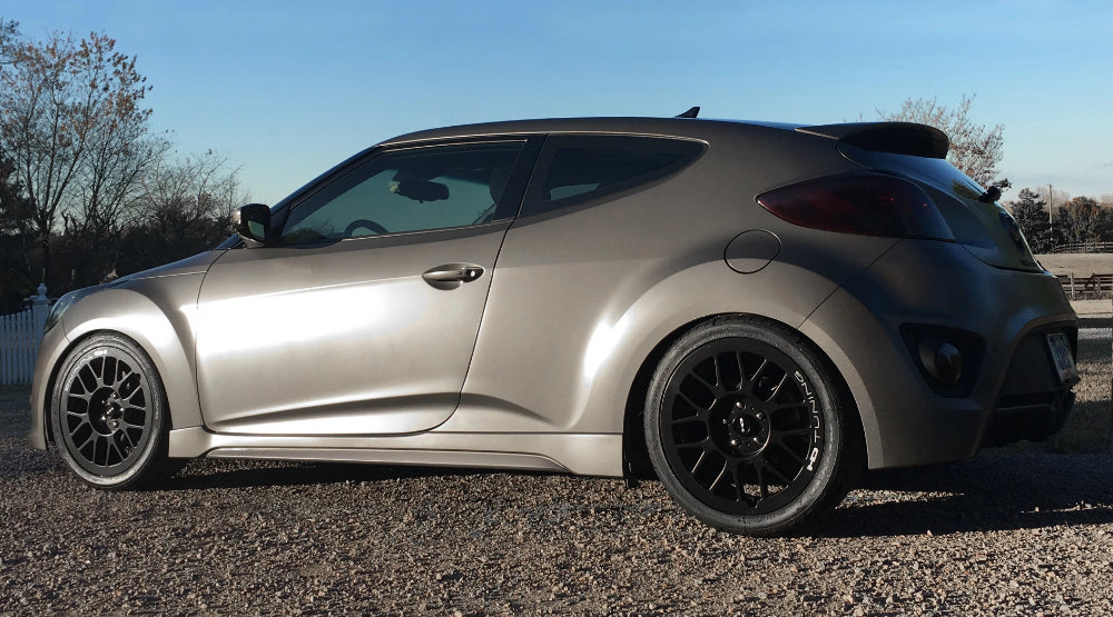 HD Wheels Passenger Car Wheels 18x7.5 | 5x100/5x114.3 | et42mm | 5.9 in | 73.1mm HD Wheels Gear | All Satin Black Milled JRM Style Custom Wheel Rim Stealth Black Mesh Hyundai Veloster