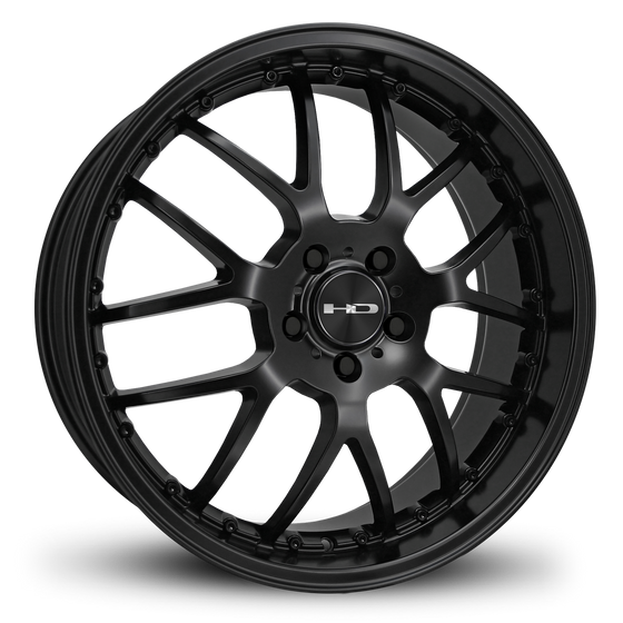 HD Wheels MSR All Satin Black Custom Wheel Rims Staggered 18x7.5, 18x9.0, 20x8.0, 20x10.0 JDM, Luxury Cars & SUV Classic Mesh Spoke Design