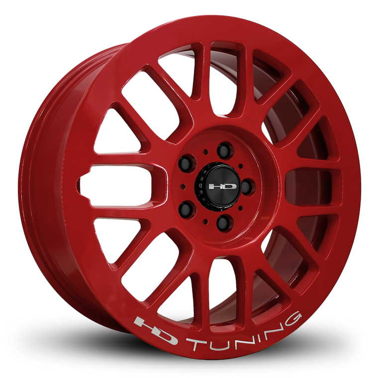 HD Wheels Passenger Car Wheels 18x7.5 | 5x114.3 | et42mm | 5.9 in | 73.1mm HD Wheels Gear | All Gloss Red Milled JDM Racing Mesh Style Custom Wheel Rims