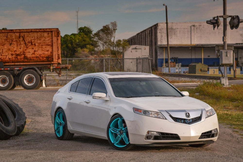 HD Wheels Passenger Car Wheels 18x8.0 | 5x114.3 | et35mm | 5.9 in | 73.1mm HD Wheels Fly Cutter | Gloss Teal with Black ED Coated Face