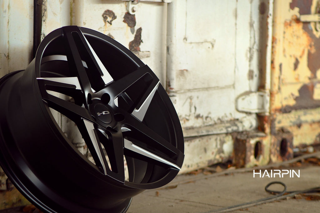 HD Wheels Passenger Car Wheels 18x8.0 | 5x114.3 | et35mm | 5.9 in | 73.1mm HD Wheels Hairpin | Satin Black with Milled Face