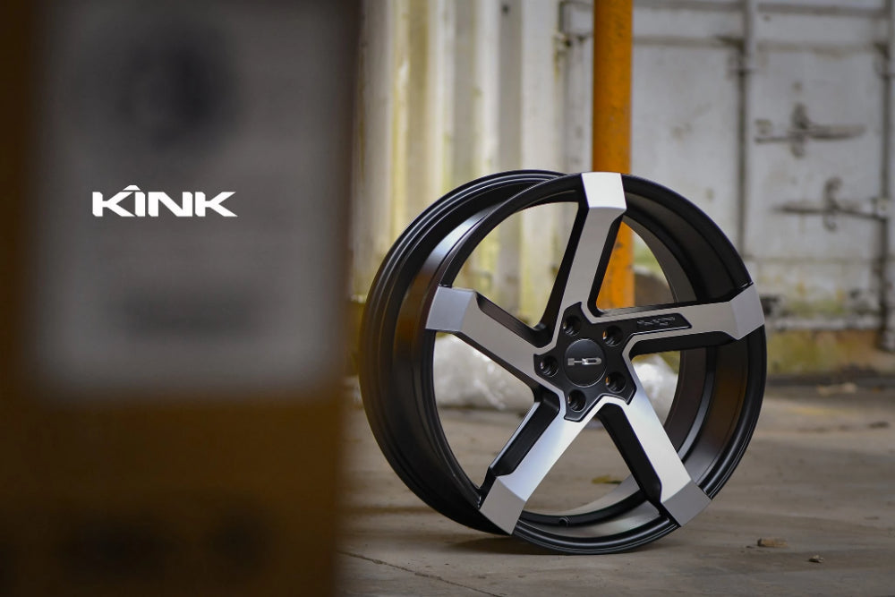 HD Wheels Passenger Car Wheels 18x8.0 | 5x114.3 | et35mm | 5.9 in | 73.1mm HD Wheels Kink | Satin Black with Machined Face