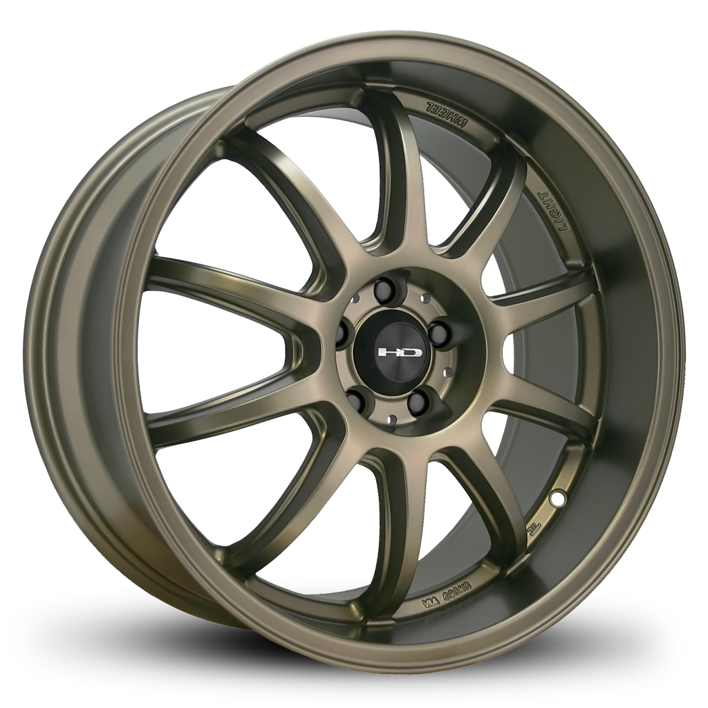 HD Wheels Passenger Car Wheels 18x9.0 | 5x112| et45mm | 6.8 in | 73.1mm HD Wheels Clutch | All Satin Bronze