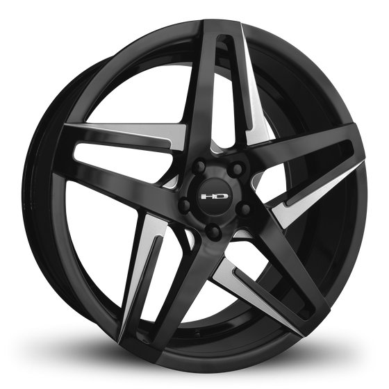 HD Wheels Passenger Car Wheels 20x8.5 | 5x114.3 | et35mm | 6.1 in | 73.1mm HD Wheels Hairpin | Satin Black with Milled Face