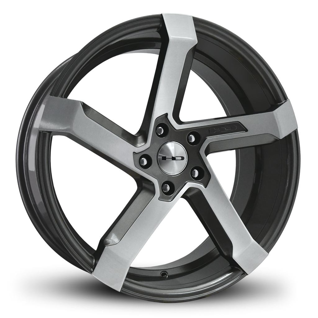 HD Wheels Passenger Car Wheels 20x8.5 | 5x114.3 | et35mm | 6.1 in | 73.1mm HD Wheels Kink | Gunmetal with Brushed Face