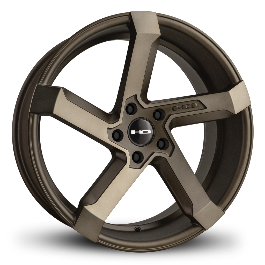 HD Wheels Passenger Car Wheels 20x8.5 | 5x114.3 | et35mm | 6.1 in | 73.1mm HD Wheels Kink | Satin Bronze Machined Face with Bronze Clear