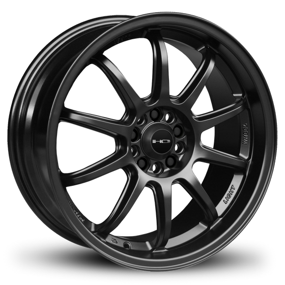 HD Wheels Passenger Car Wheels HD Wheels Clutch | All Satin Black