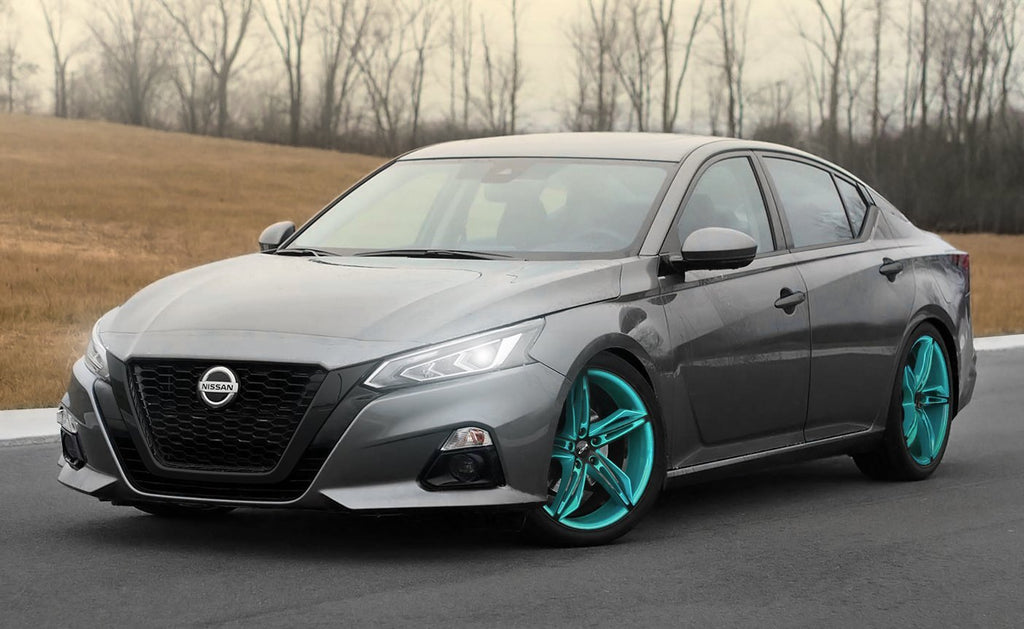 HD Wheels Passenger Car Wheels HD Wheels Fly Cutter | Gloss Teal with Black ED Coated Face