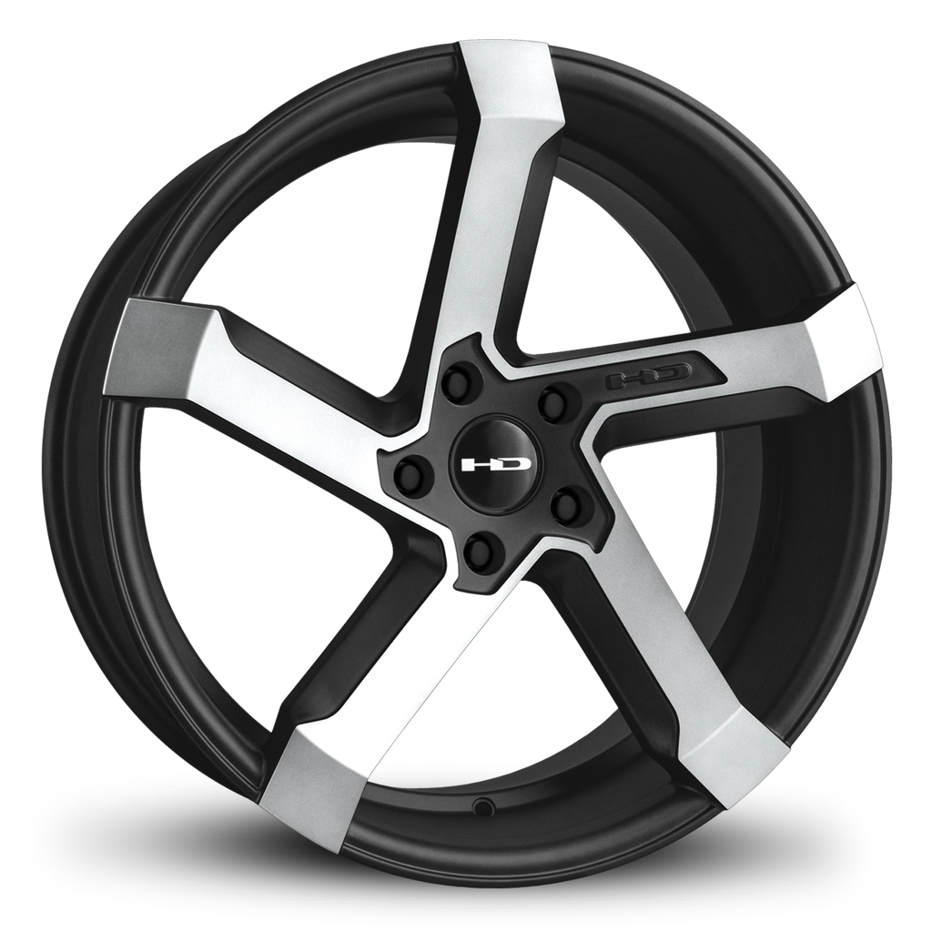 HD Wheels Passenger Car Wheels HD Wheels Kink | Satin Black with Machined Face