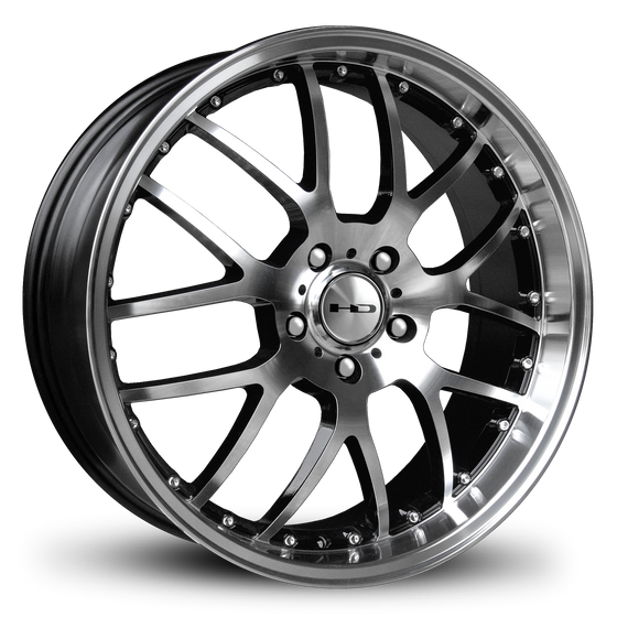 HD Wheels MSR Gloss Black Machined Face & Lip Custom Wheel Rims Staggered 18x7.5, 18x9.0, 20x8.0, 20x10.0 JDM, Luxury Cars & SUV Classic Mesh Spoke Design