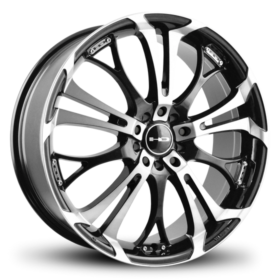 HD Wheels Passenger Car Wheels HD Wheels Spinout | Gloss Black Machined Face