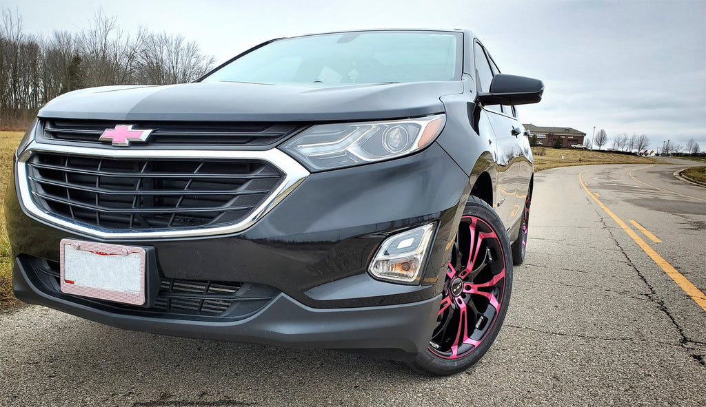 The Original HD Wheels Spinout Pink and Black Colors in 16, 17, 18, & 20 Inch Custom Wheel Rims Chevrolet Equinox