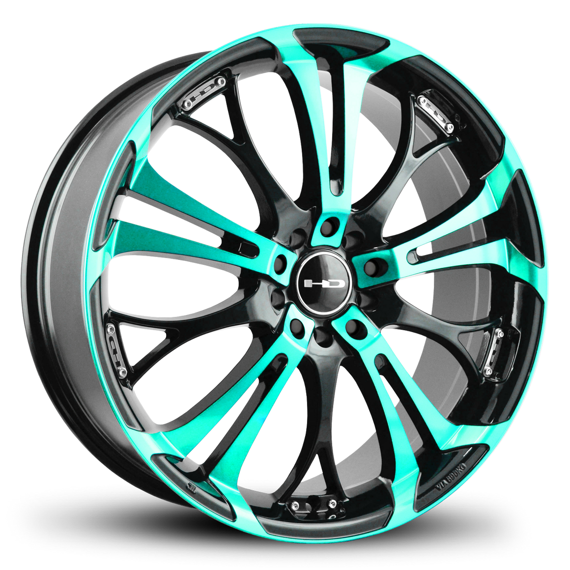 HD Wheels Passenger Car Wheels HD Wheels Spinout | Teal Machined w Black