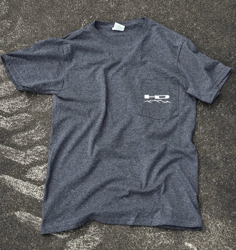 HPD Wheels Small Official HD Off-Road Wheels SAW T-Shirt Heather Grey w Pocket