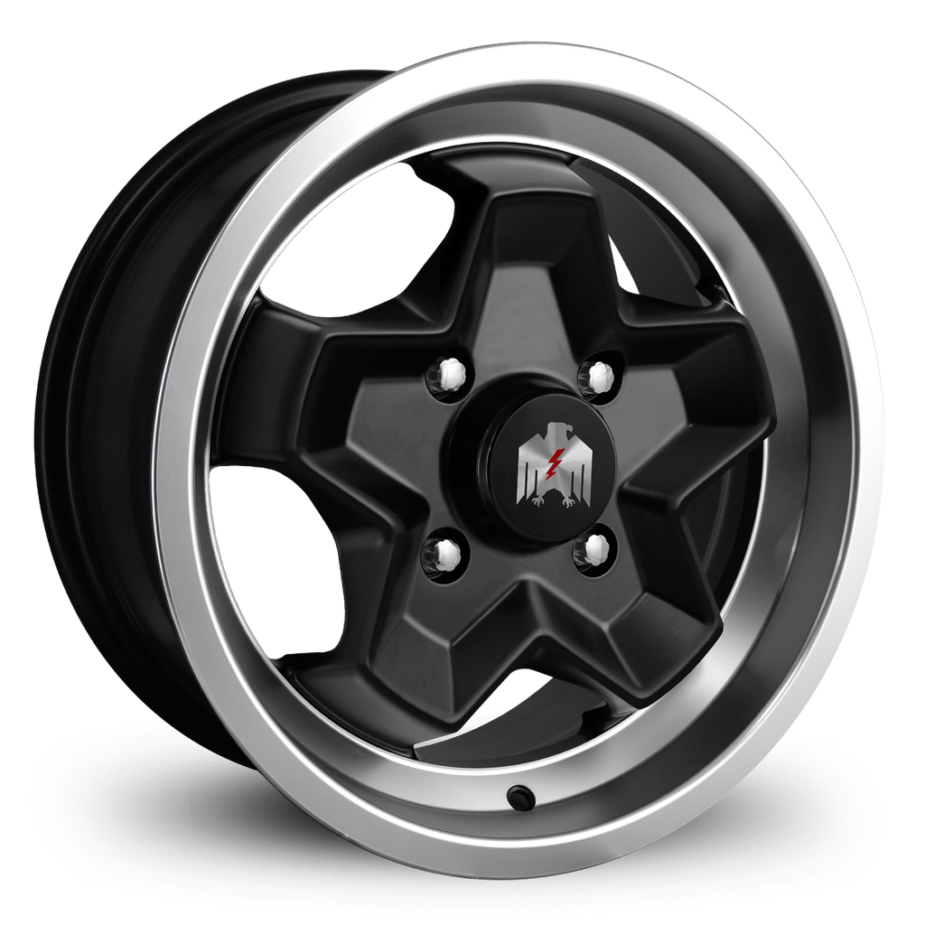 Klassik Rader Classic Car Wheels 15x7.0 | 4x130 | et40mm | 5.6 in | 80.9mm Klassik Rader Porsche 944 Wheels | Satin Black Machined Lip