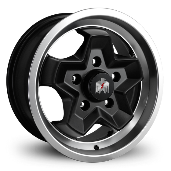 Klassik Rader Classic Car Wheels 15x7.0 | 5x130 | et23.3mm | 4.9 in | 71.5mm Klassik Rader Porsche 944 Wheels | Satin Black Machined Lip