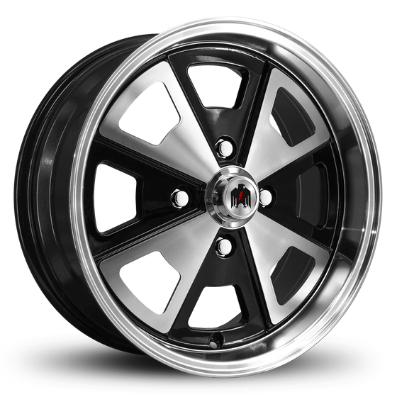 Klassik Rader Classic Car Wheels 17x7.0 | 4x130 | et40mm | 5.6 in | 80.9mm Klassik Rader Porsche 914 Wheels | Gloss Black Machined