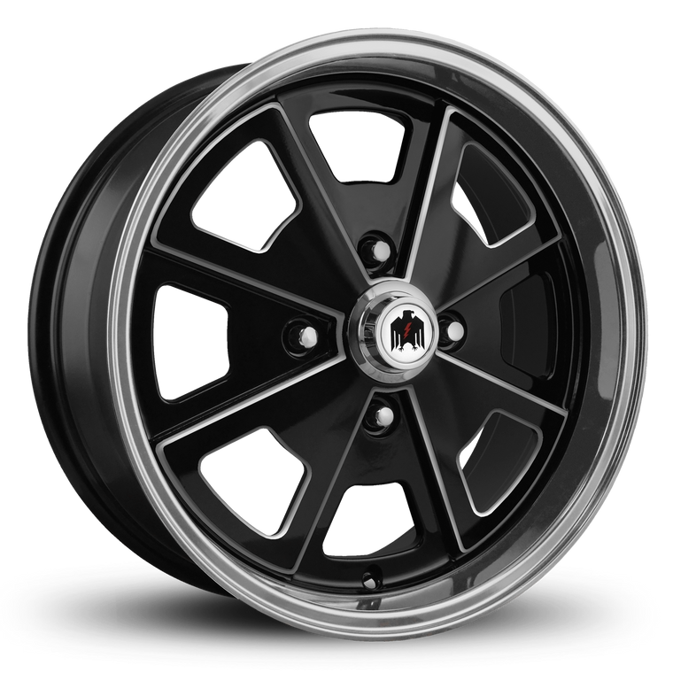 Klassik Rader Classic Car Wheels 17x7.0 | 4x130 | et40mm | 5.6 in | 80.9mm Klassik Rader Porsche 914 Wheels | Gloss Black Machined & Milled