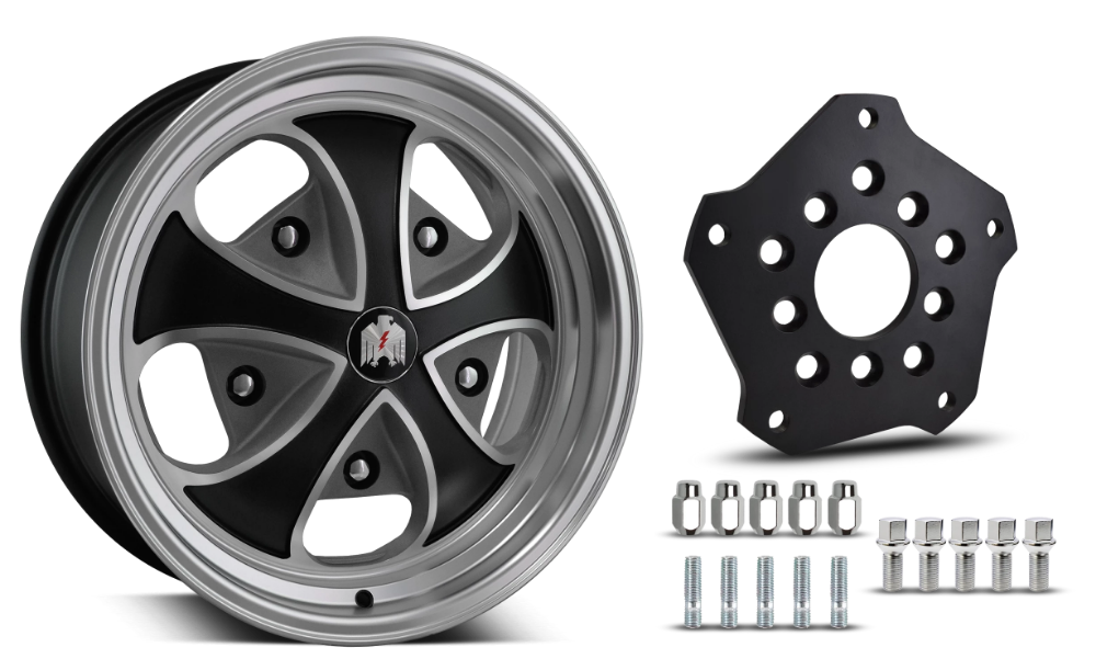 Klassik Rader Classic Car Wheels 5x205 Klassik Rader Falcon with Adapter to 5x112 Vehicles ( Sold As Each )