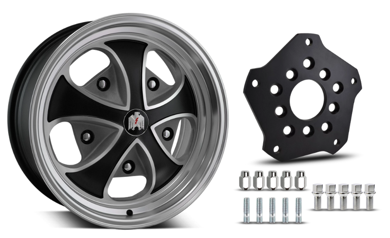 Klassik Rader Classic Car Wheels 5x205 Klassik Rader Falcon with Adapter to 5x130 Vehicles ( Sold As Each )