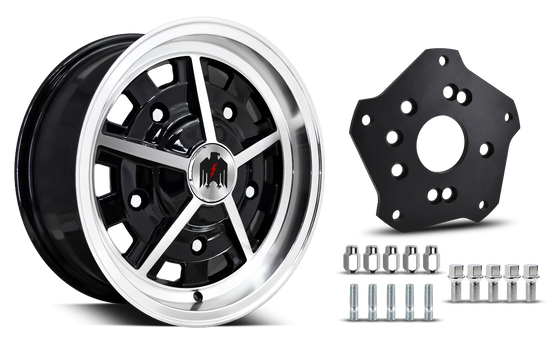 Klassik Rader Classic Car Wheels 5x205 Klassik Rader Rally with Adapter to 4x130 Vehicles ( Sold As Each )