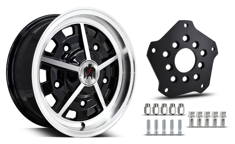 Klassik Rader Classic Car Wheels 5x205 Klassik Rader Rally with Adapter to 5x112 Vehicles ( Sold As Each )
