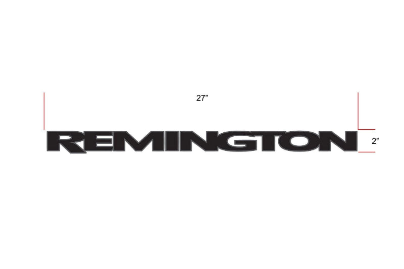 Remington Off-Road Decal Kits Piece 1 for Full JEEP Kit Remington Off-Road Die-Cut Decals - BLACK