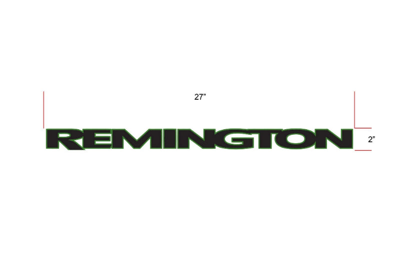 Remington Off-Road Decal Kits Piece 1 for Full JEEP Kit Remington Off-Road Die-Cut Decals - GREEN