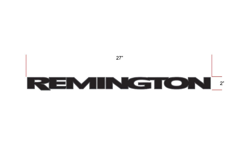 Remington Off-Road Decal Kits Piece 1 for Full JEEP Kit Remington Off-Road Die-Cut Decals - GREY
