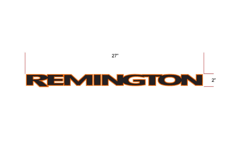 Remington Off-Road Decal Kits Piece 1 for Full JEEP Kit Remington Off-Road Die-Cut Decals - ORANGE